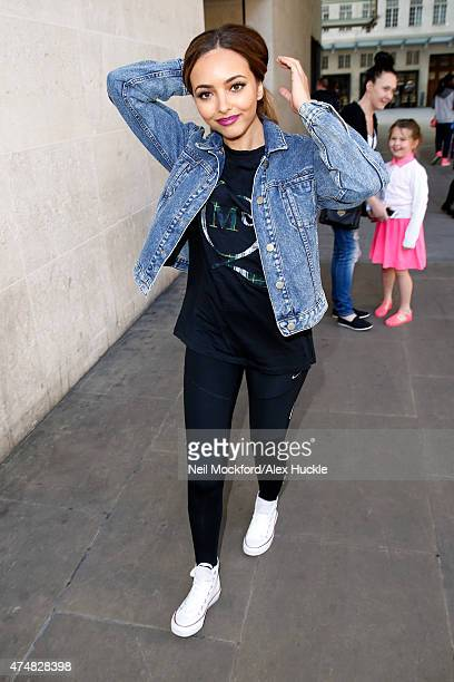 Jade Thirlwall of Little Mix seen leaving the BBC Radio 1 Studios on May 27 2015 in London England