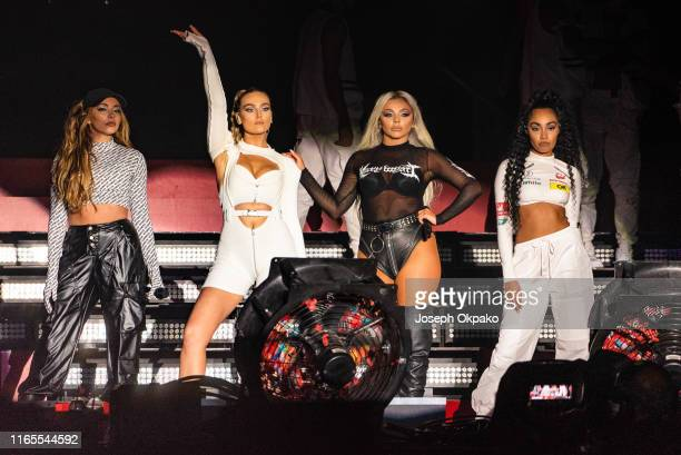 Jade Thirlwall Perrie Edwards Jesy Nelson and LeighAnne Pinnock of Little Mix perform on stage during day 3 of Fusion Festival 2019 on September 01...