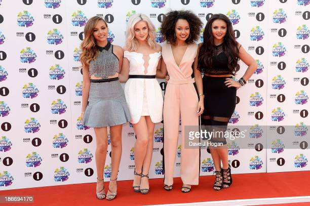 Jade Thirlwall Perrie Edwards LeighAnne Pinnock and Jesy Nelson from Little Mix attend the BBC Radio 1 Teen Awards at Wembley Arena on November 3...