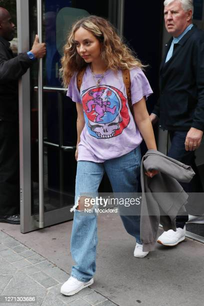 Jade Thirwall from Little Mix seen at Global Radio Studios on September 08, 2020 in London, England.