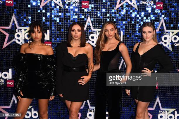 Jade Thirwall Jesy Nelson LeighAnne Pinnock and Perrie Edwards of Little Mix attend The Global Awards 2019 at Eventim Apollo Hammersmith on March 07...