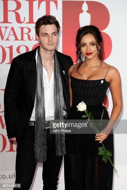 AWARDS 2018*** Jade Thirwall of Little Mix and Jed Elliott attend The BRIT Awards 2018 held at The O2 Arena on February 21 2018 in London England