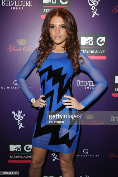 Jade Thompson arriving at the MTV Staying Alive Foundation fundraiser at The Box Soho London