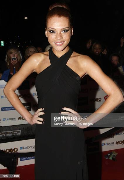 Jade Thompson arriving for the MOBO Awards 2011 at the SECC Glasgow G3 8YW