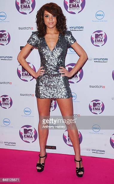 Jade Thompson attends the 2011 MTV European Music Awards on November 06 2011 at Odyssey Arena in Belfast