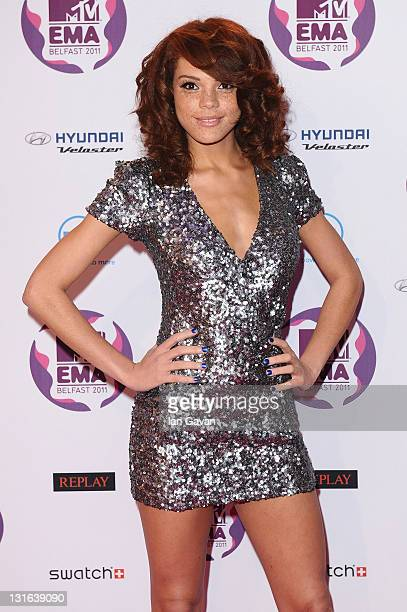 Jade Thompson attends the MTV Europe Music Awards 2011 at the Odyssey Arena on November 6 2011 in Belfast Northern Ireland