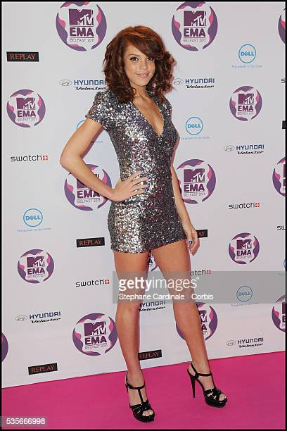 Jade Thompson attends the MTV Europe Music Awards 2011 at the Odyssey Arena in Belfast