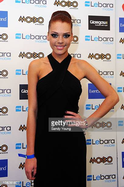 Jade Thompson poses during the MOBO Awards 2011 at the SECC on October 5 2011 in Glasgow Scotland