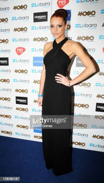 Jade Thompson poses in the press room at the MOBO Awards 2011 at SECC on October 5 2011 in Glasgow Scotland