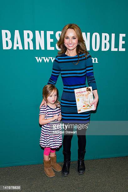Jade Thompson poses with her mother chef Giada De Laurentiis as she promotes Weeknights with Giada Quick and Simple Recipes to Revamp Dinner at...