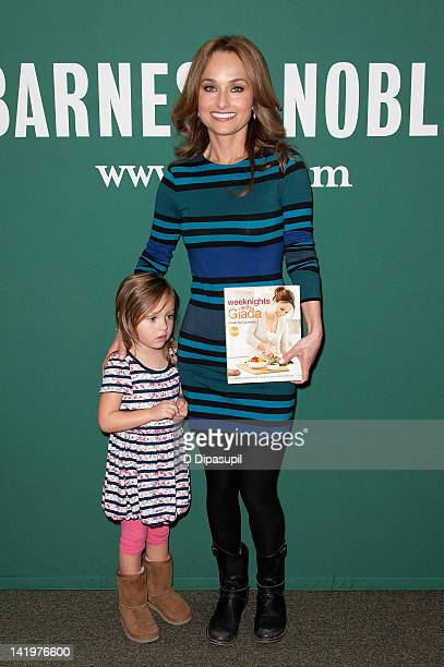 Jade Thompson poses with her mother Giada De Laurentiis as she promotes her book Weeknights with Giada Quick and Simple Recipes to Revamp Dinner at...