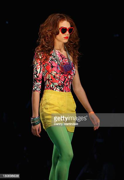 Jade Thompson winner of Britain Ireland's Next Top Model walks the runway at Britain Ireland's Next Top Model Live at ExCel on October 28 2011 in...
