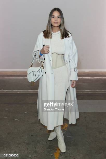 Jade Tuncdoruk attends the St. Agni show during Afterpay Australian Fashion Week 2021 Resort '22 Collections at Carriageworks on June 04, 2021 in...