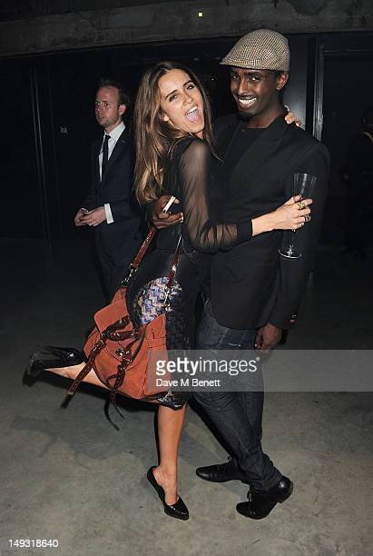 Jade Williams aka Sunday Girl and Mason Smillie attend the Warner Music Group PreOlympics Party in the Southern Tanks Gallery at the Tate Modern on...