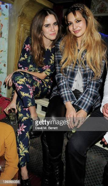 Jade Williams aka Sunday Girl and Zara Martin attend the Vivienne Westwood after party with Belvedere during London Fashion Week Autumn/Winter 2012...