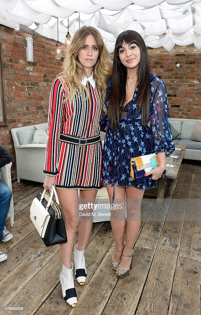 Jade Williams aka Sunday Girl and Zara Martin attend the Warner Summer Party in association with British GQ at Shoreditch House on July 8, 2015 in London, England.