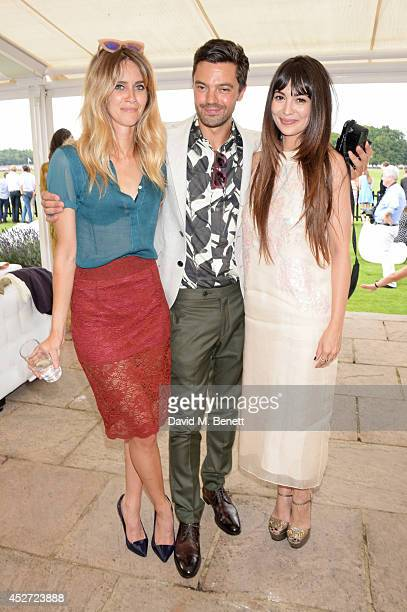 Jade Williams aka Sunday Girl Dominic Cooper and Zara Martin attend Audi International at Guards Polo Club near Windsor to support England as it...