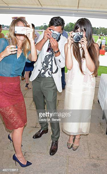 Jade Williams aka Sunday Girl, Dominic Cooper and Zara Martin attend Audi International at Guards Polo Club, near Windsor, to support England as it...