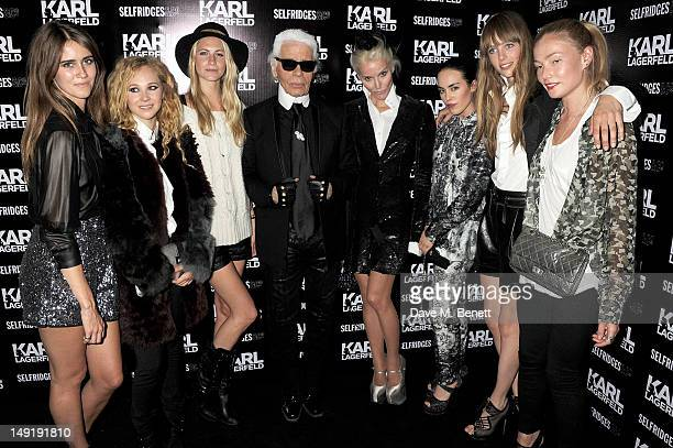Jade Williams aka Sunday Girl Juno Temple Poppy Delevingne Karl Lagerfeld Daphne Guinness Tallulah Harlech Edie Campbell and Clara Paget attend a...