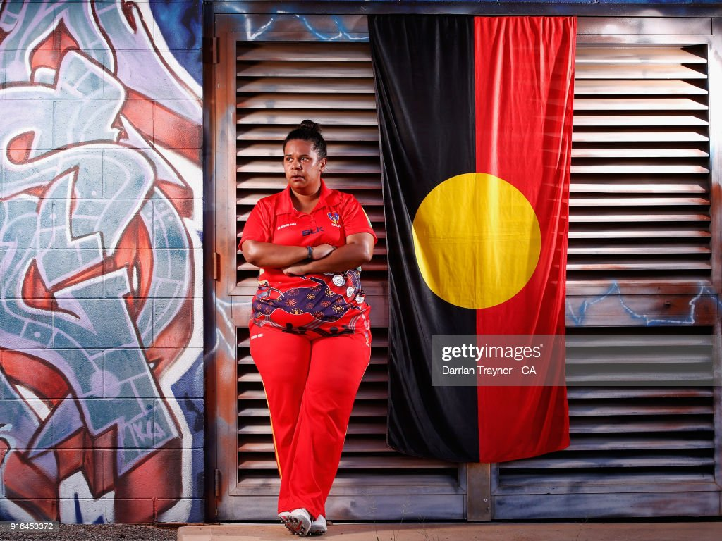 Jade Wilson of the South Australian Women's team poses for a photo during the 2018 Cricket Australia Indigenous Championships on February 10, 2018 in Alice Springs, Australia.
