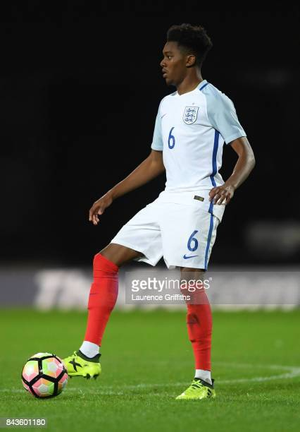 Jaden Brown of England in action during the International match between England and Germany at One Call Stadium on September 5 2017 in Mansfield...