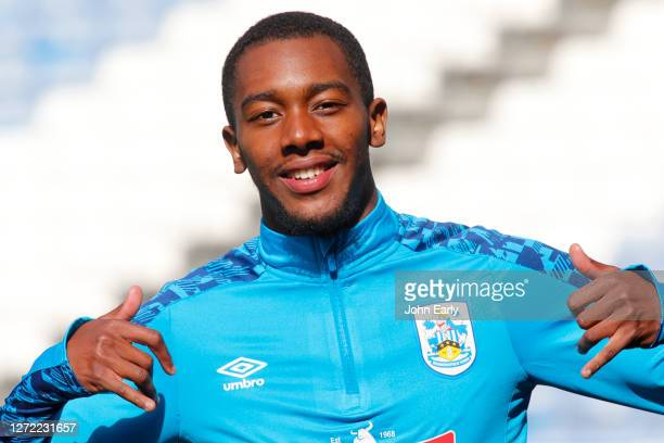 Jaden Brown of Huddersfield Town during the Sky Bet Championship match between Huddersfield Town and Norwich City at John Smith's Stadium on...