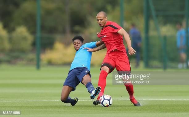 Jaden Brown of Tottenham during the Preseason friendly match between Tottenham Hotspur and Leyton Orient at Tottenham Hotspur Training Centre on July...