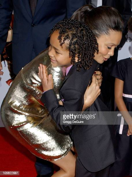 Jaden Christopher Syre Smith and Thandie Newton during The Pursuit Of Happyness Los Angeles Premiere Arrivals at Mann Village Theatre in Westwood...