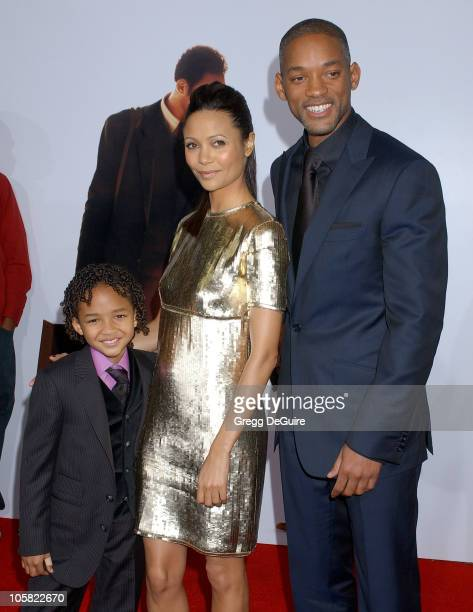 Jaden Christopher Syre Smith Thandie Newton and Will Smith
