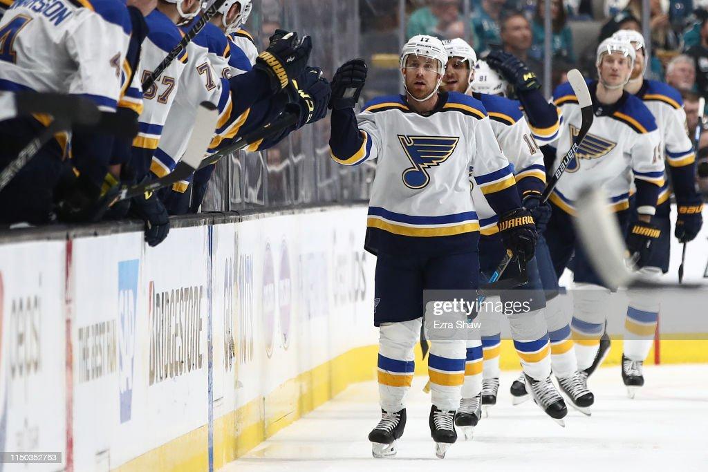 St Louis Blues v San Jose Sharks - Game Five : News Photo
