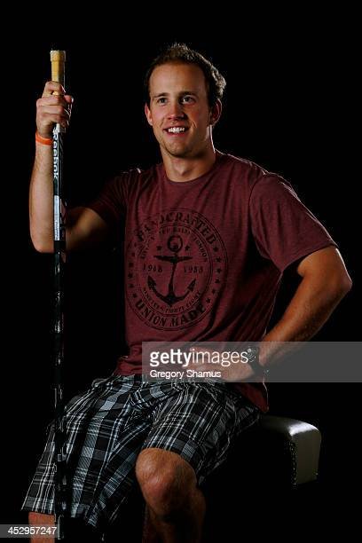 Jaden Schwartz of the St Louis Blues poses for an NHLPA The Players Collection portrait at The Westin Harbour Castle hotel on August 27 2012 in...