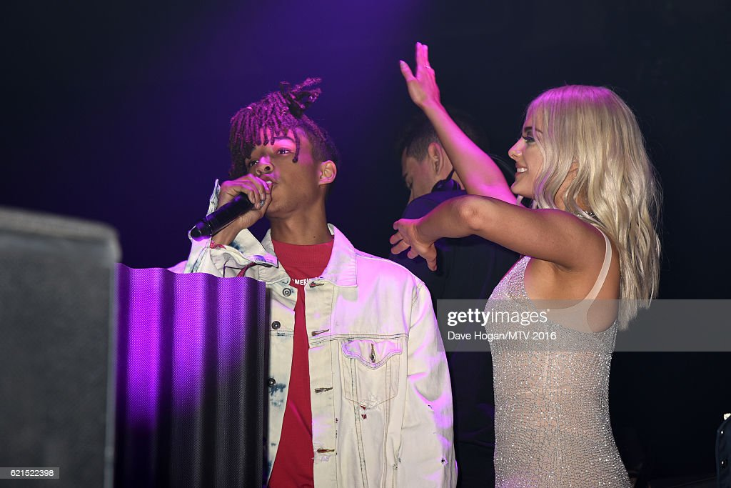 Jaden Smith and Bebe Rexha attend the After Party for the MTV Europe Music Awards 2016 on November 6, 2016 in Rotterdam, Netherlands.