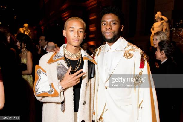 Jaden Smith and Chadwick Boseman attend the Heavenly Bodies: Fashion & The Catholic Imagination Costume Institute Gala at The Metropolitan Museum of...