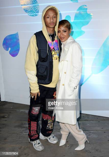 "Jaden Smith and Jada Pinkett Smith at the ""Hala"" party at DIRECTV Lodge presented by AT&T at Sundance Film Festival 2019 on January 26, 2019 in Park..."