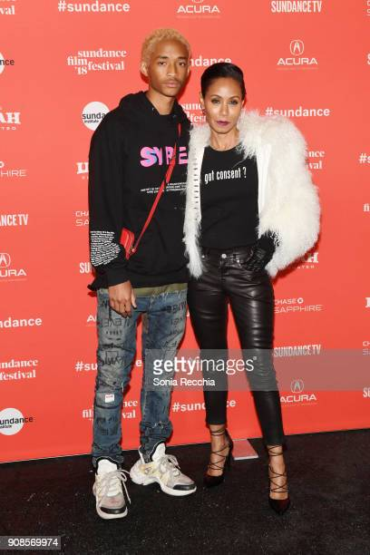 Jaden Smith and Jada Pinkett Smith attends the 'Skate Kitchen' Premiere during 2018 Sundance Film Festival at Park City Library on January 21 2018 in...