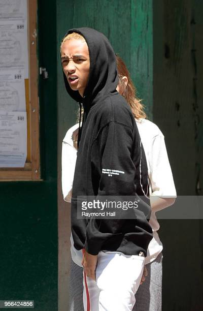 Jaden Smith and Odessa Adlon are seen in soho on May 9 2018 in New York City