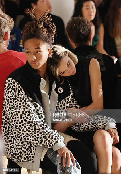 Jaden Smith and Sarah Snyder attend the Gypsy Sport fashion show during Spring 2016 MADE Fashion Week at Milk Studios on September 15 2015 in New...