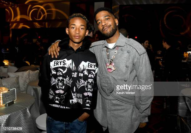 "Jaden Smith and Scott ""Kid Cudi"" Mescudi pose at the after party for the premiere of HBO's ""Westworld"" Season 3 at the Dolby Ballroom on March 05,..."