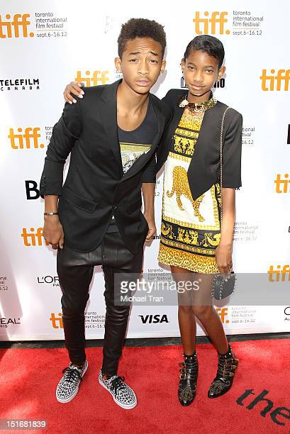 Jaden Smith and Willow Smith arrive at Free Angela All Political Prisoners premiere during the 2012 Toronto International Film Festival held at Roy...