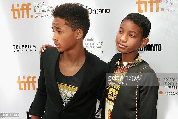 Jaden Smith and Willow Smith arrive at 'Free Angela All Political Prisoners' premiere during the 2012 Toronto International Film Festival held at Roy...