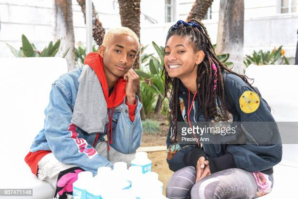 Jaden Smith and Willow Smith attend March For Our Lives Los Angeles on March 24, 2018 in Los Angeles, California.