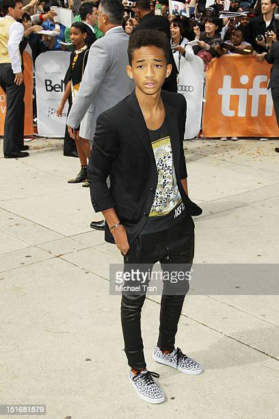 Jaden Smith arrives at Free Angela All Political Prisoners premiere during the 2012 Toronto International Film Festival held at Roy Thomson Hall on...