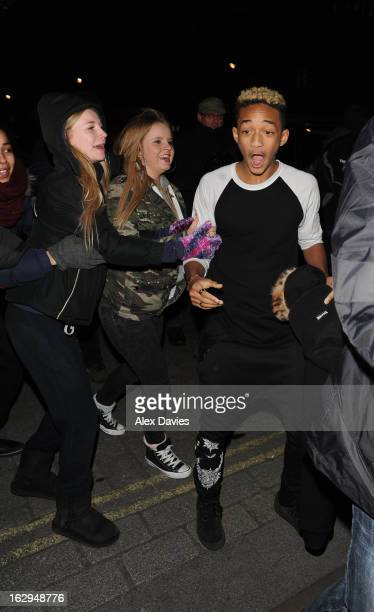 Jaden Smith arrives at the Langham Hotel on March 1, 2013 in London, England.