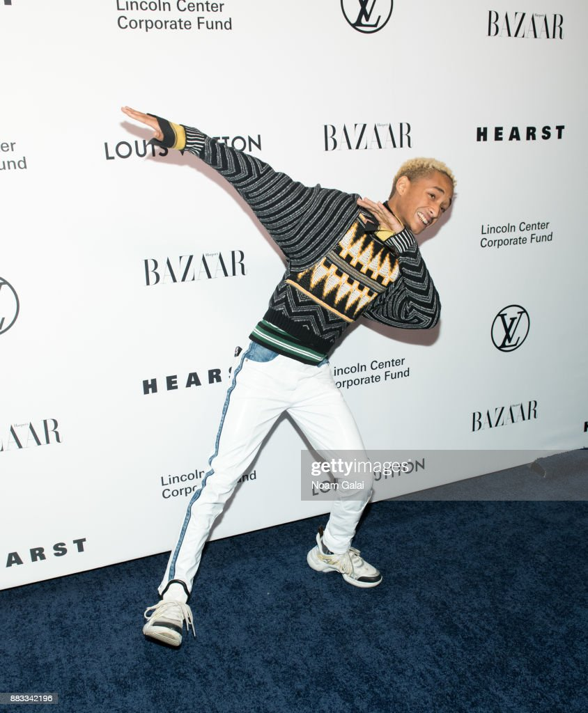 Jaden Smith attends an evening honoring Louis Vuitton and Nicolas Ghesquiere at Alice Tully Hall at Lincoln Center on November 30, 2017 in New York City.