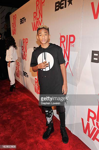 Jaden Smith attends BET's Rip The Runway 2013:Red Carpet at Hammerstein Ballroom on February 27, 2013 in New York City.