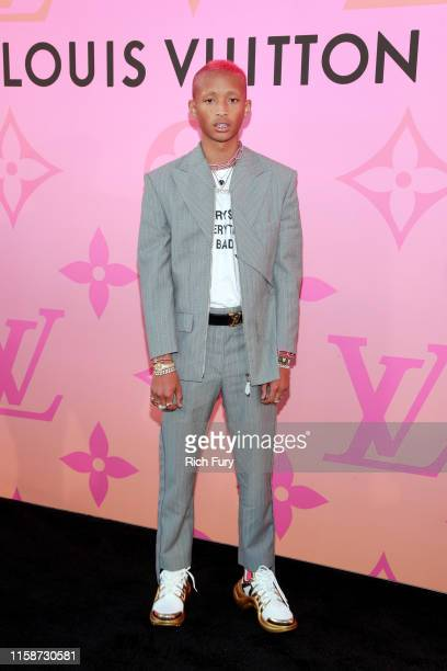 Jaden Smith attends Louis Vuitton Unveils Louis Vuitton X: An Immersive Journey on June 27, 2019 in Beverly Hills, California.