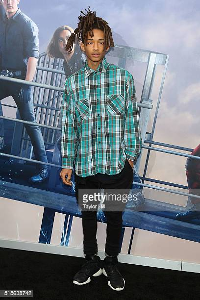 Jaden Smith attends the 'Allegiant' premiere at AMC Loews Lincoln Square 13 theater on March 14 2016 in New York City