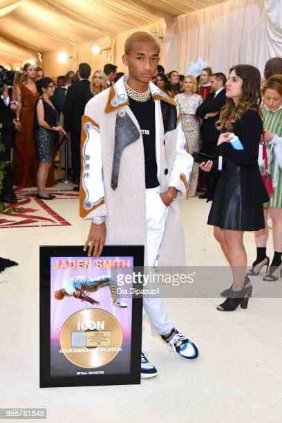 Jaden Smith attends the Heavenly Bodies Fashion The Catholic Imagination Costume Institute Gala at The Metropolitan Museum of Art on May 7 2018 in...