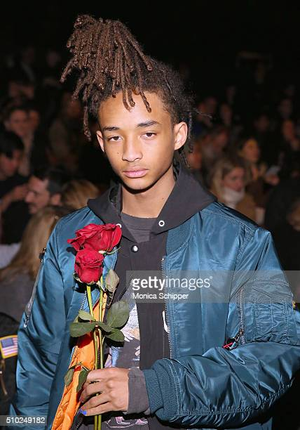 Jaden Smith attends the Hood By Air Fall 2016 fashion show during New York Fashion Week The Shows at The Arc Skylight at Moynihan Station on February...