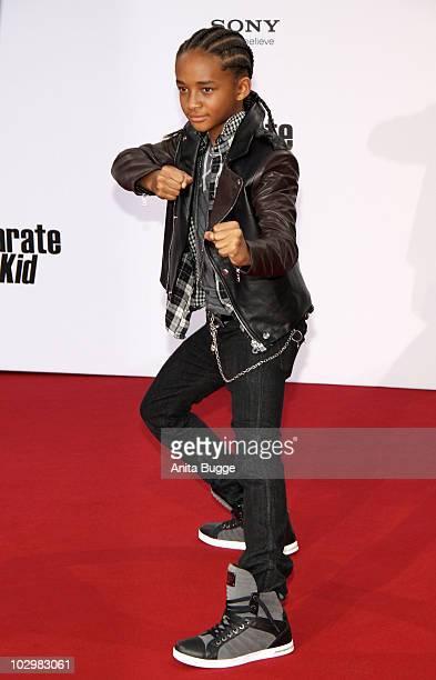 Jaden Smith attends the 'Karate Kid' Germany Premiere at Sony Center Potsdamer Platz on July 19 2010 in Berlin Germany